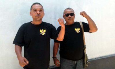 Ketua FPADK, Suhariyono (Kiri) didampingi Sekretaris FPADK, Mbah Geger (pakai kacamata). (tut)
