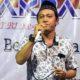 Dedy Kurniawan saat menjadi panitia Pengajian Akbar dalam rangka Peringatan HUT RI ke- 74 RT04/RW04, Dusun Stembel, Desa Gambiran. (ist)