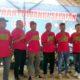 Jajaran Pengurus Jurnalis Banyuwangi Selatan (JBS) saat drklari dan pengukuhan, bertempat di Wana Wisata Air Terjun Legomoro, Desa Margomulyo, Kecamatan Glenmore, Sabtu (16/11/2019) sore. (tut)