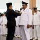 Sumawi saat dilantik Bupati Banyuwangi Abdullah Azwar Anas, bertempat di Pendopo Sabha Swagata Blambangan, Rabu (20/11/2019) siang. (tut)