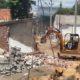 Roller yang yang sedang mengerjakan Pemadatan di lokasi proyek Pemadatan dan Urugan pembangunan terminal pariwisata terpadu, Kelurahan Sobo, Banyuwangi, Sabtu (24/12/2019) siang. (ras)