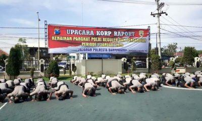 Jelang Tutup Tahun, 99 Personel Polresta Banyuwangi Naik Pangkat