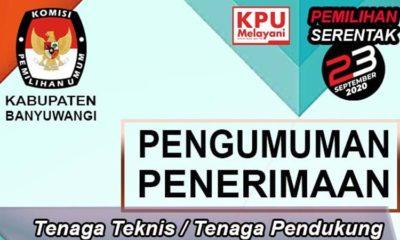 KPU Banyuwangi Buka Pendaftaran Tenaga Teknis
