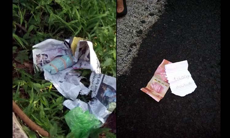 Janin bayi yang diperkirakan umur 5 bulan yang ditemukan warga Desa Kampung Anyar, Minggu (19/01/2020). (ist)