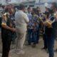 Anggota LSM GMBI saat mendatangi RSUD Blambangan, Selasa (28/7/2028) siang. (ist)